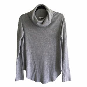 ARITZIA Cowl Neck Thermal Long Sleeve Grey S